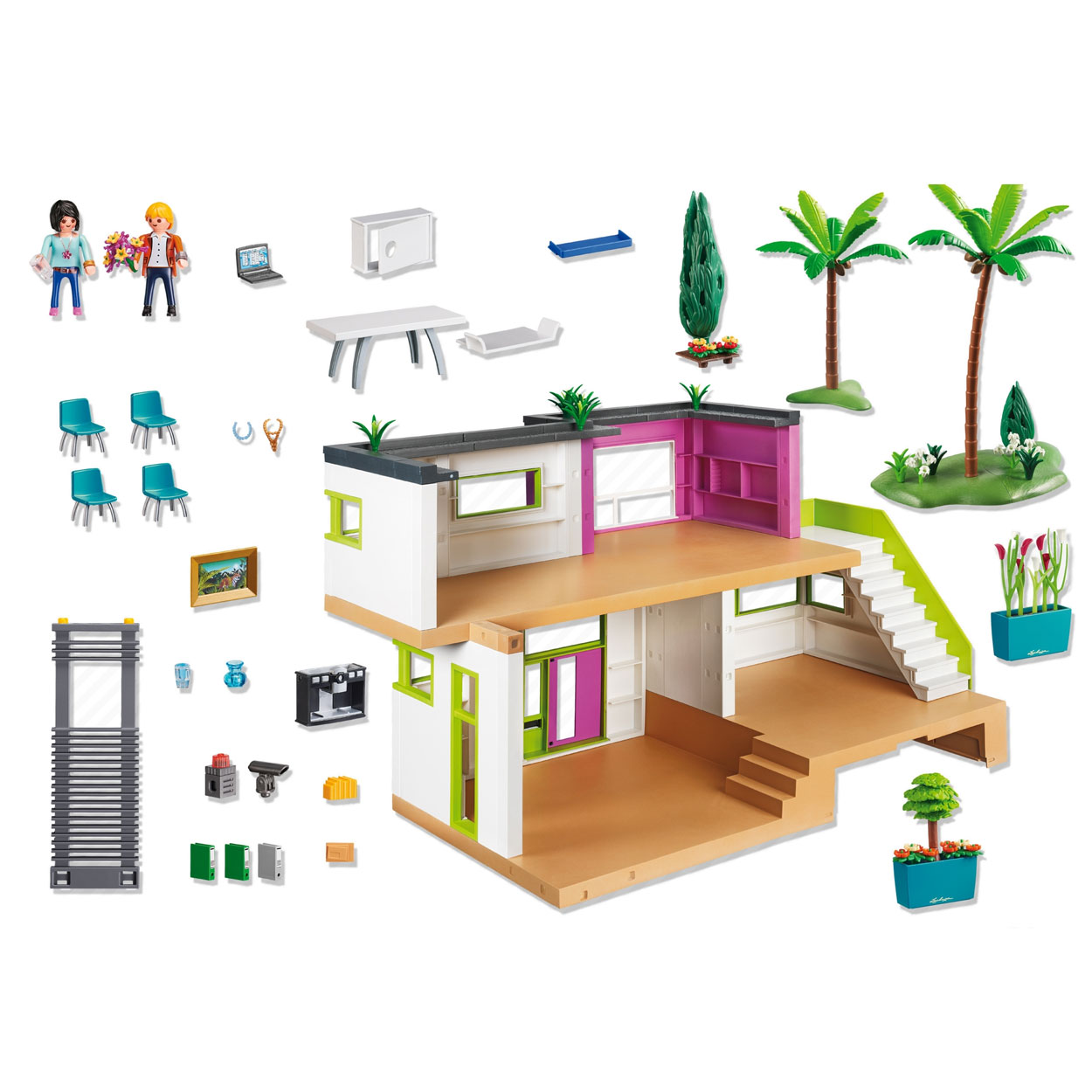 Playmobil 5574 luxe villa online kopen for Casa moderna de lujo playmobil