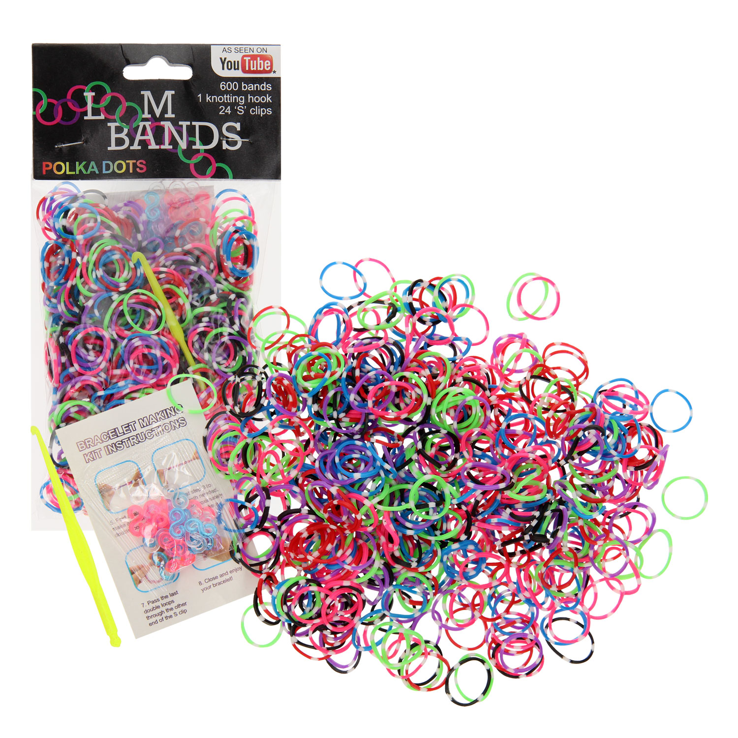 Loombands Stippen Set, 600st.