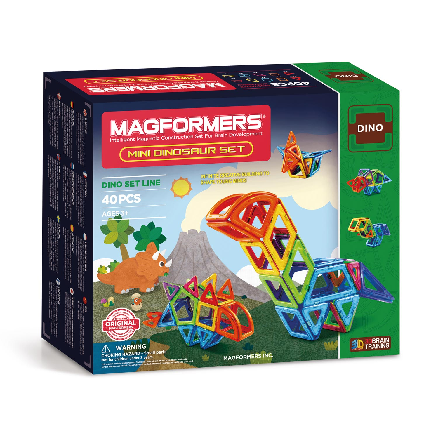 Magformers Mini Dino's Set, 40dlg.