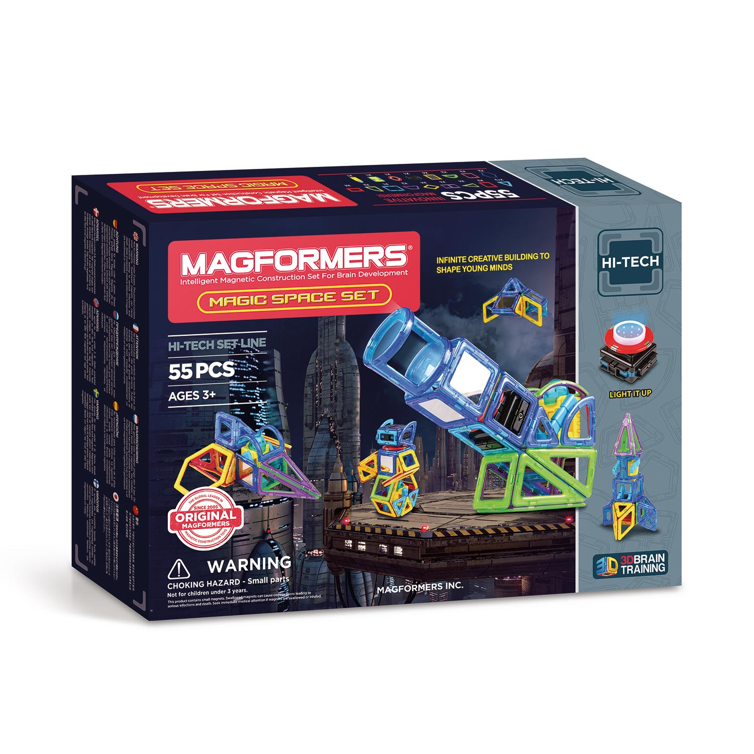 Magformers Magic Space Set, 55dlg.
