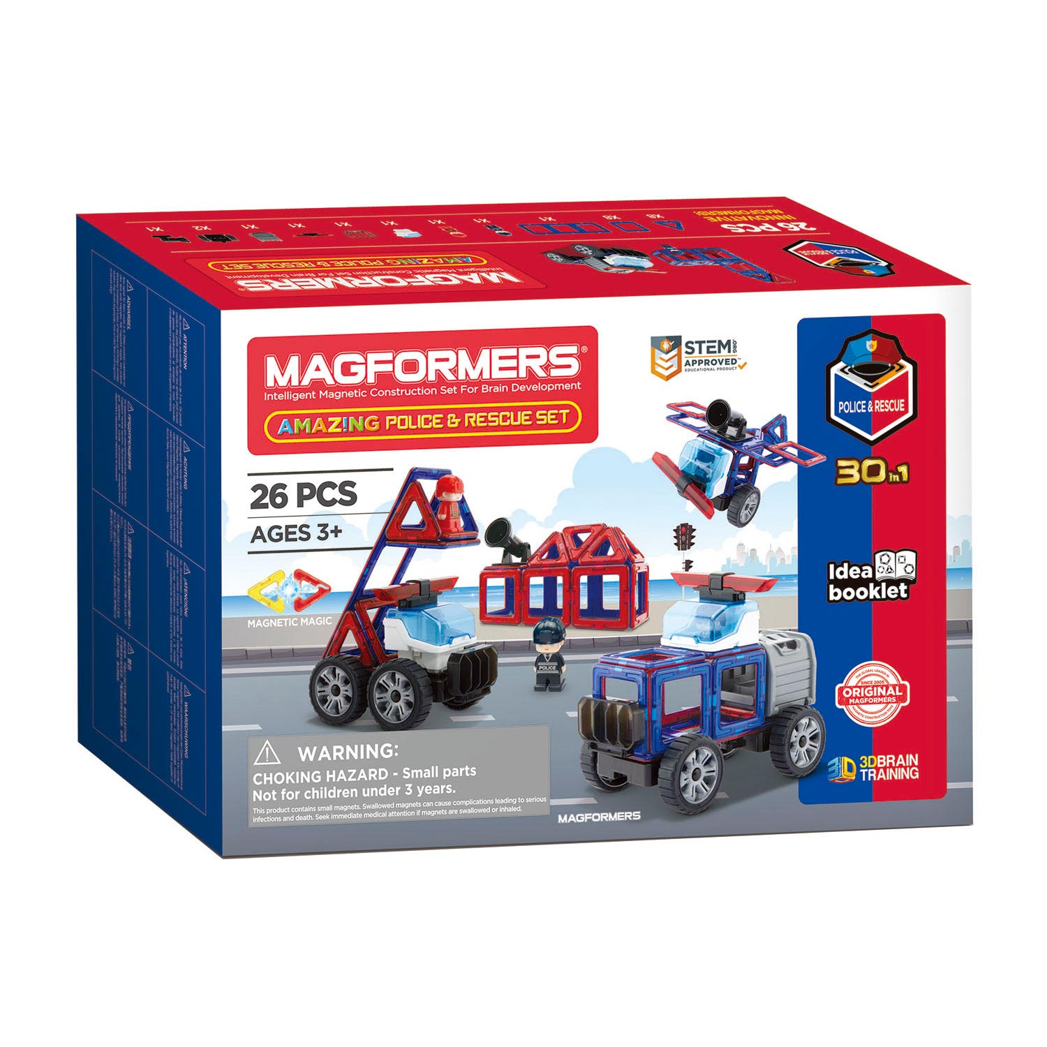 Magformers Amazing Politie & Redding Set, 26dlg.