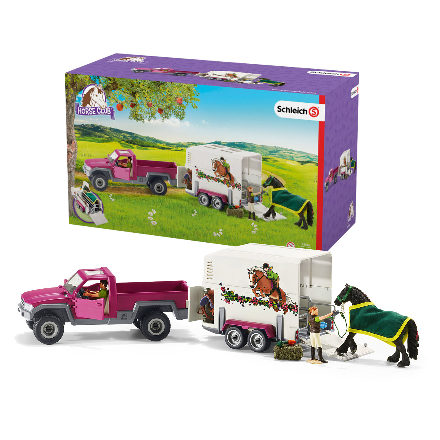 Schleich Pick-up met Paardentrailer