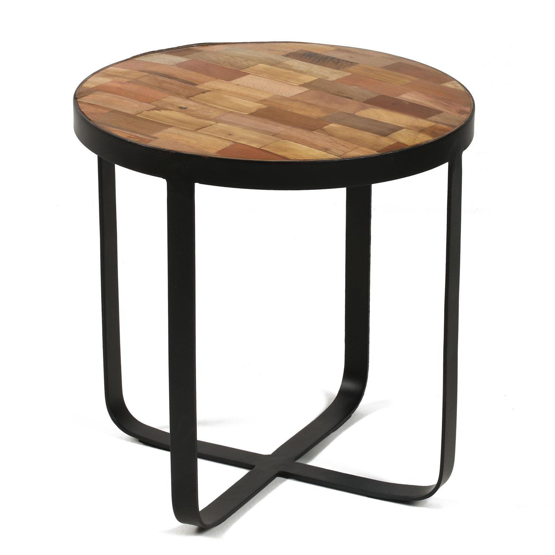 houten bijzettafel met zwart frame online kopen | lobbeswonen.nl