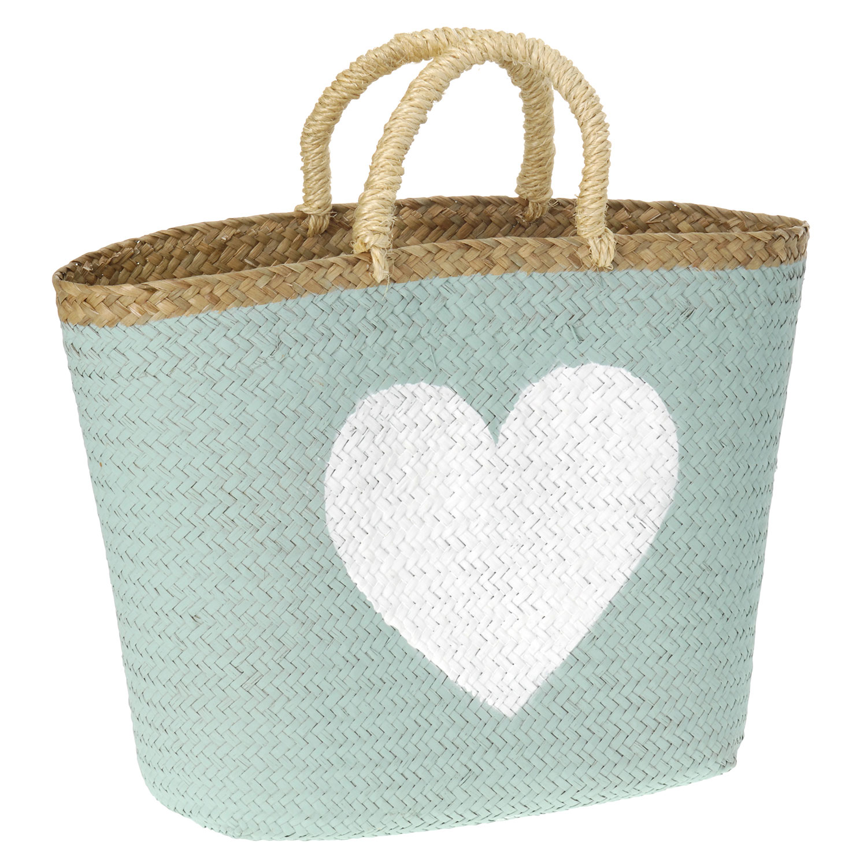 Nieuw Strandtas Shopper Zeegras - Groen online kopen | Lobbes Wonen JQ-17
