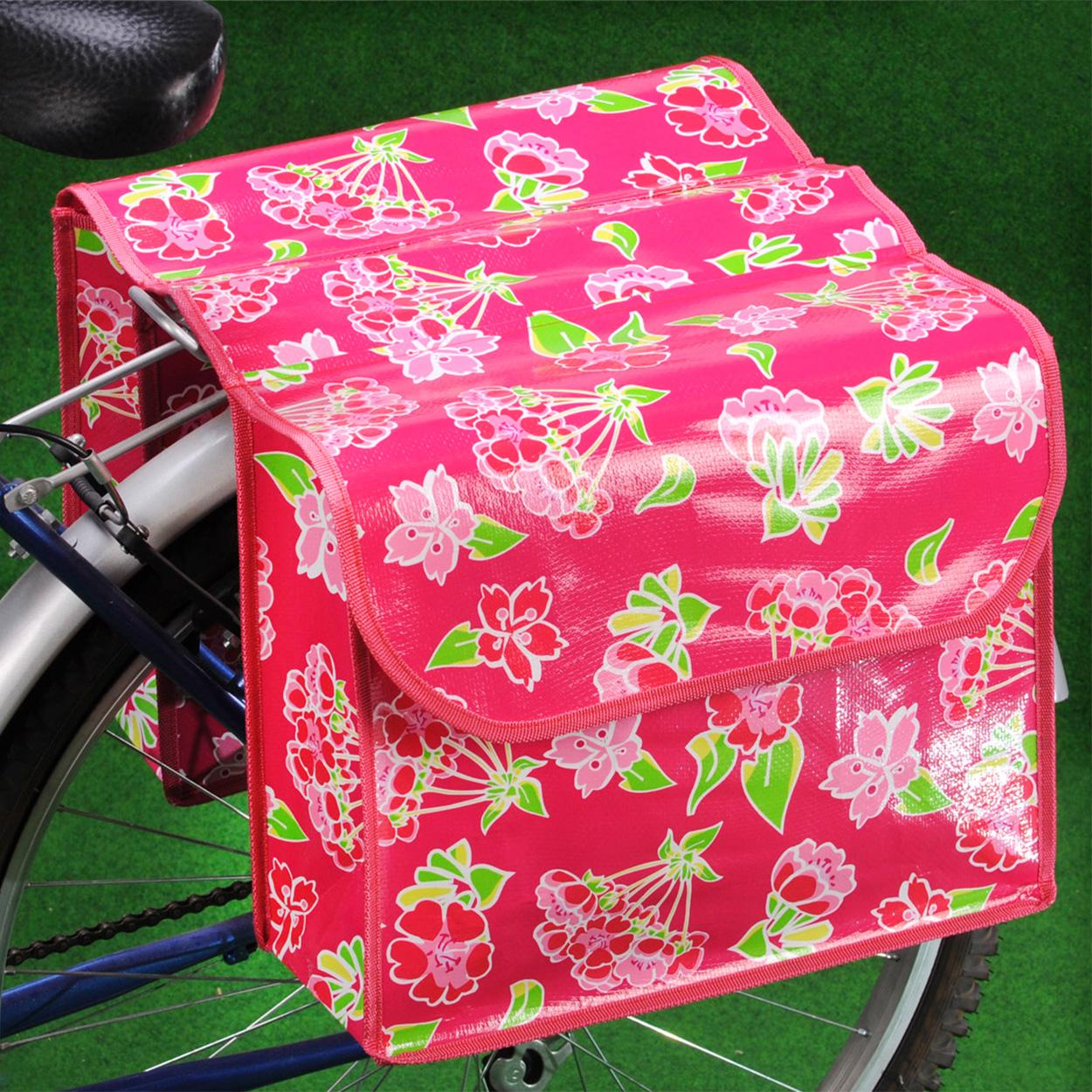 Fietstas Roze : Dubbele fietstas roze kopen lobbes