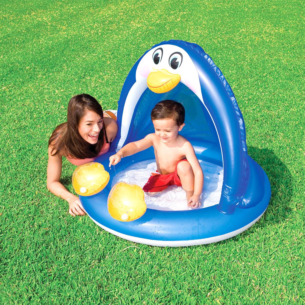 Peuter zwembad pinguin online kopen for Intex zwembad baby