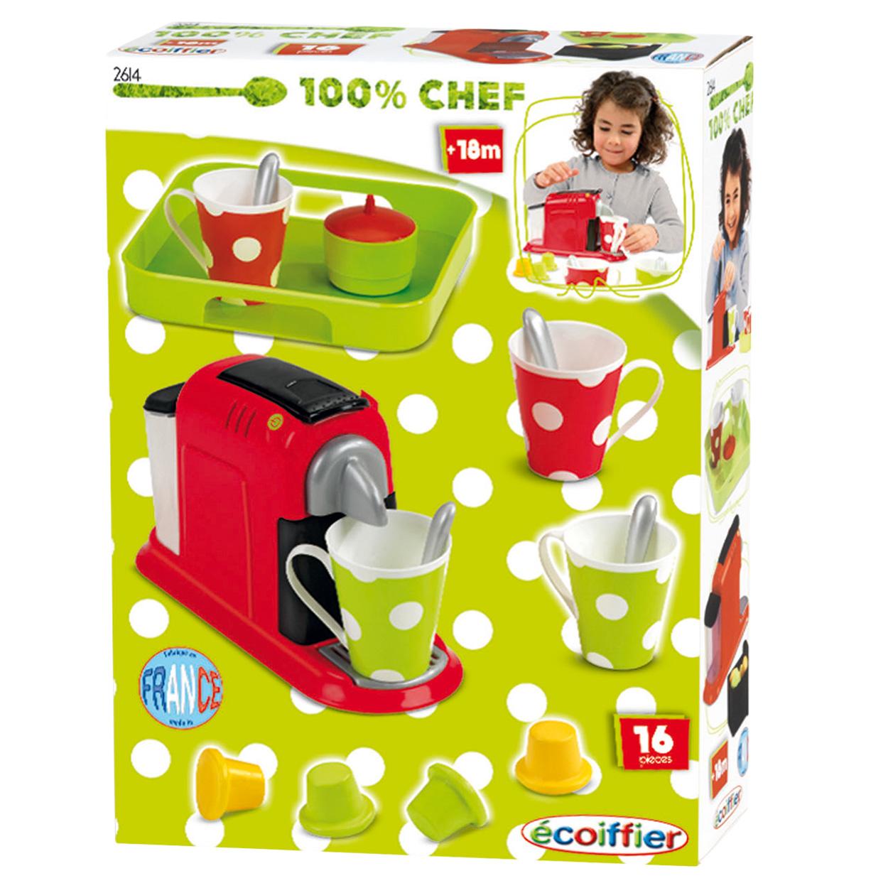 Disney Keukenaccessoires : Ecoiffier 100% Chef Koffiezetapparaat met Cupjes online