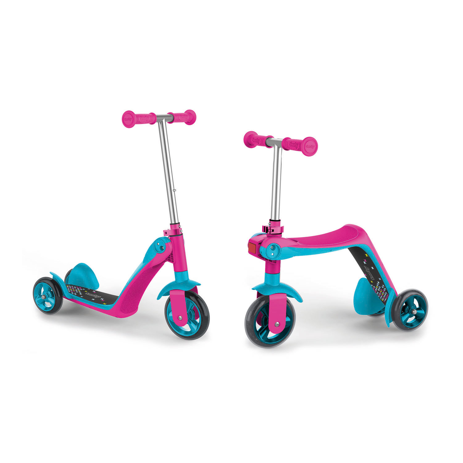 Smoby Reversible 2in1 Scooter Roze