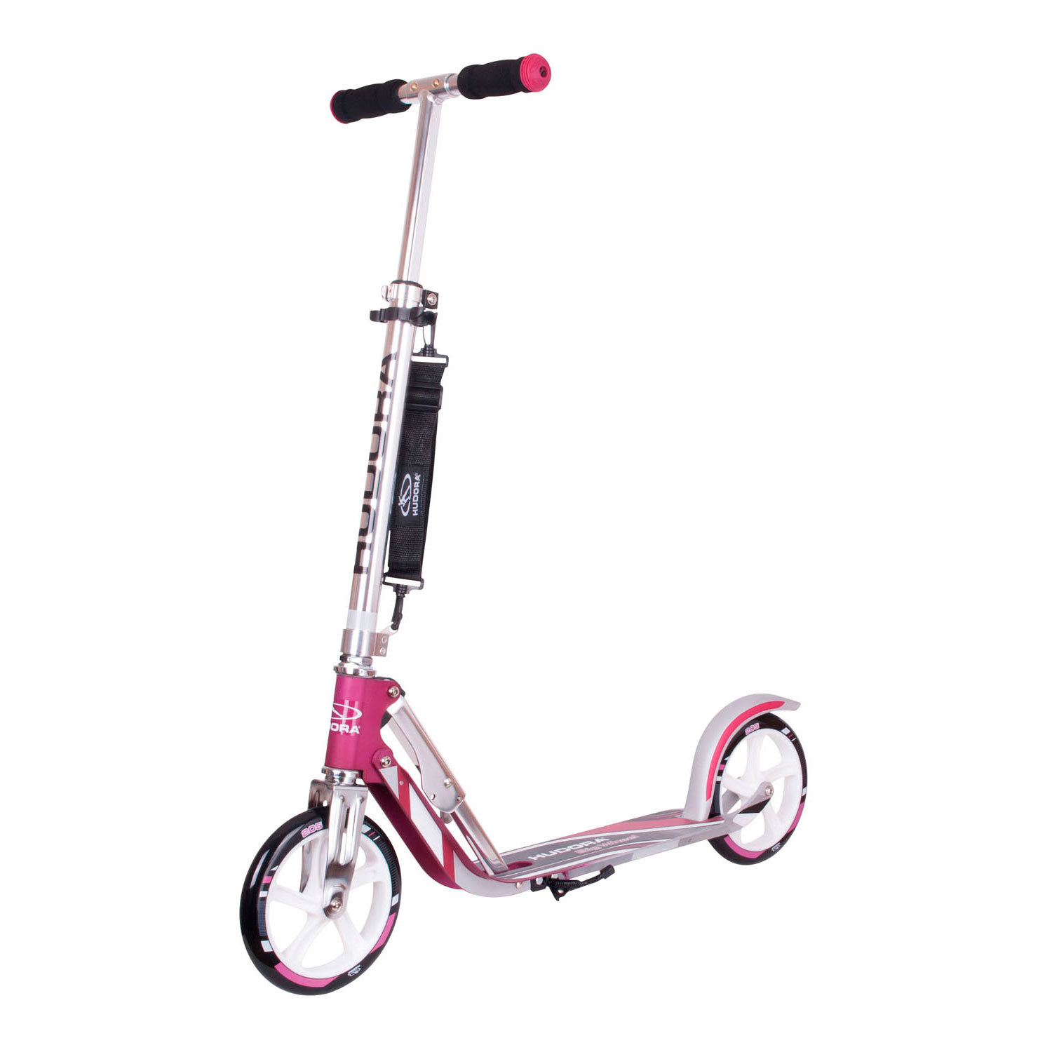 Hudora Scooter Big Wheel RX205 Step - Magenta/Zilver