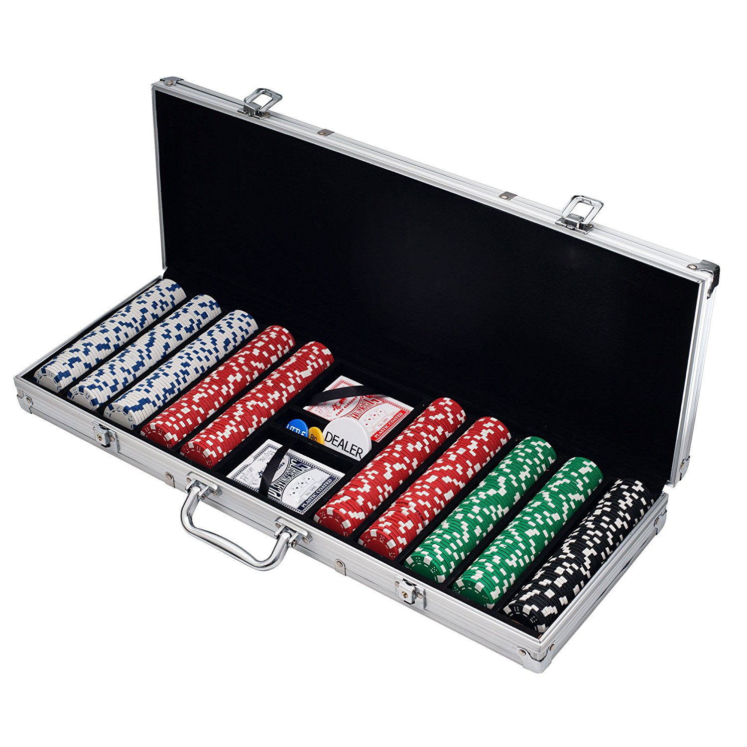 Poker Set Texas Hold'em Pokerset - Aluminium Koffer