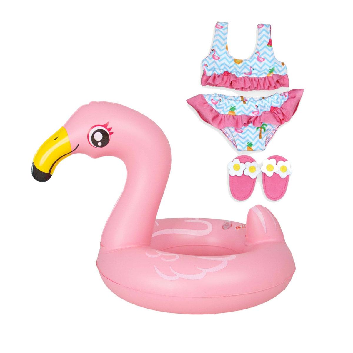 Verbazingwekkend Poppen Zwemset Flamingo, 35-45 cm online kopen | Lobbes Speelgoed BA-89