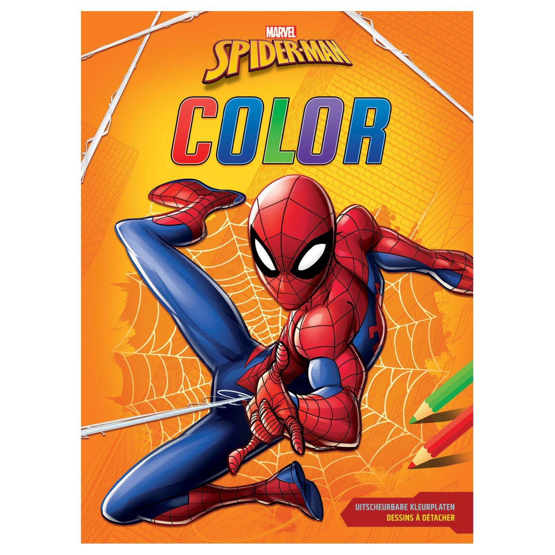 Venom Spiderman Kleurplaten.Marvel Spiderman Color Kleurboek Online Kopen Lobbes Nl