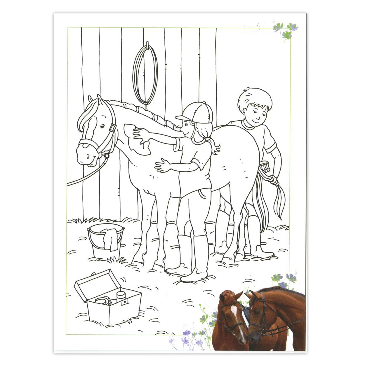 kleurplaten topmodel paarden