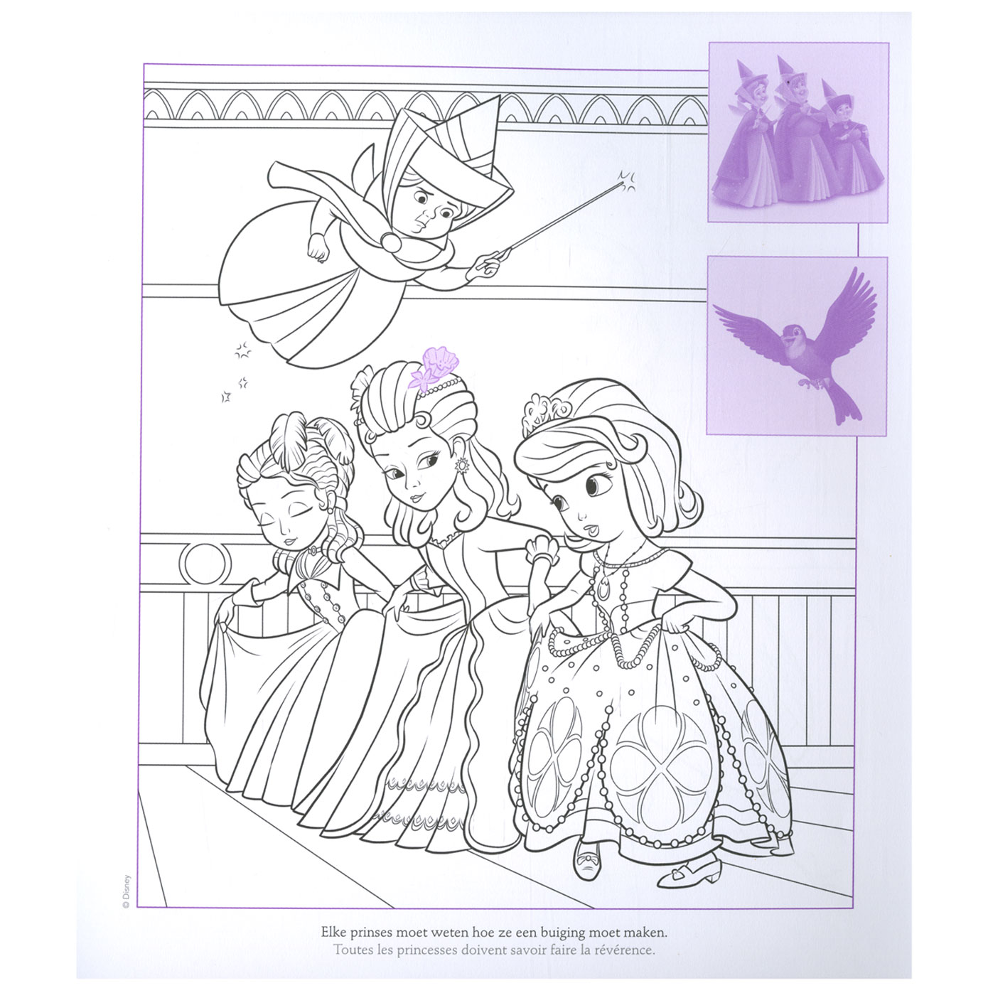 The First Kleurplaat Sofia The First Pictures To Pin On