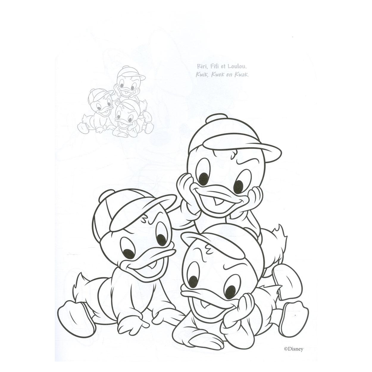 disney sticker color donald duck kopen lobbes nl