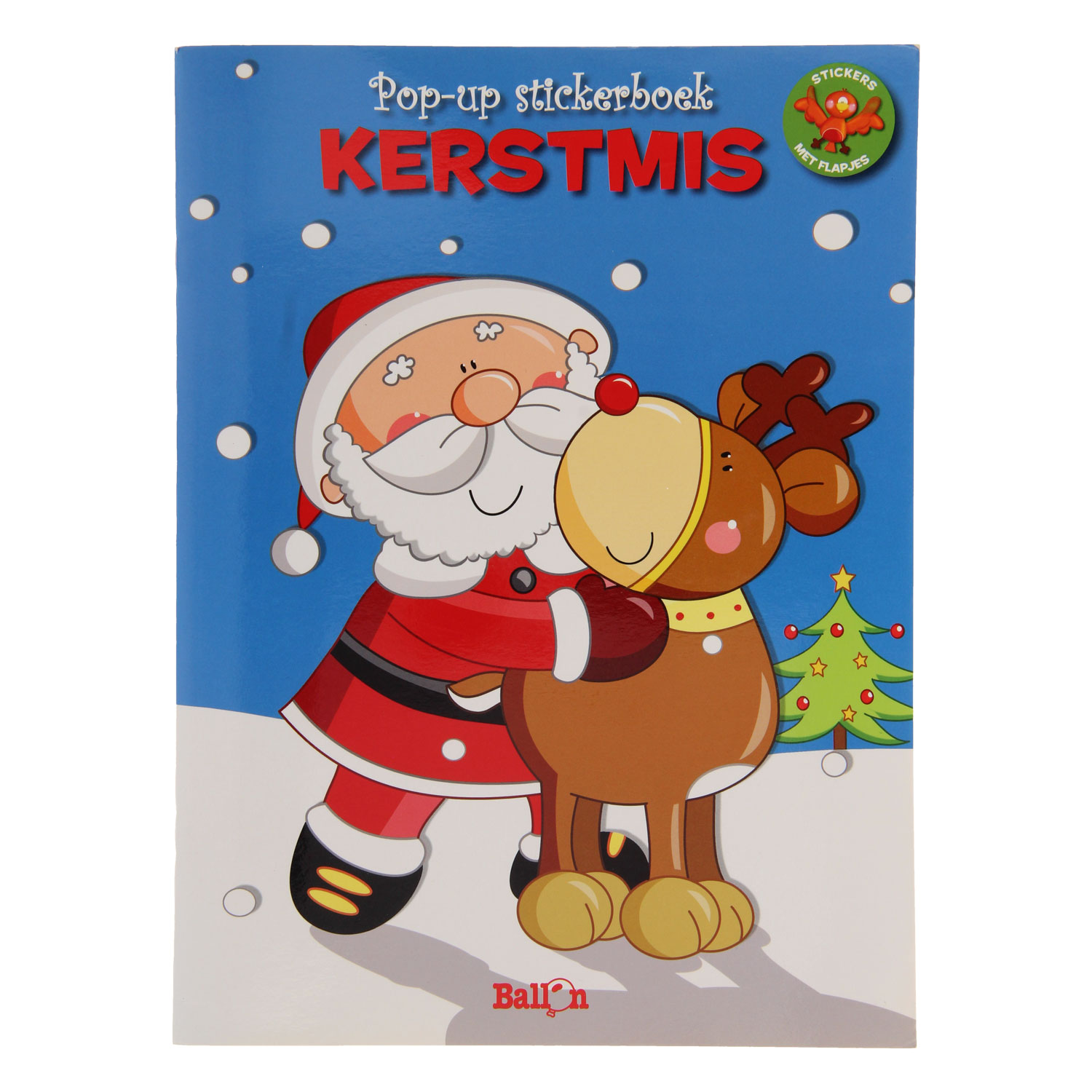 Pop-up Kleur- en Stickerboek Kerstmis
