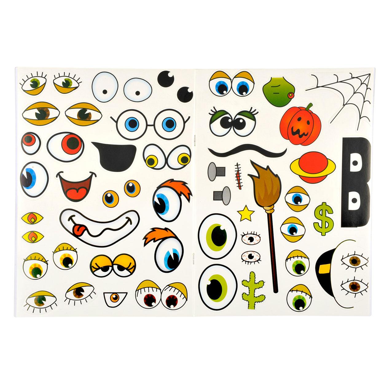 Stickerboek grappige gezichten online kopen - Ogen grappig ...