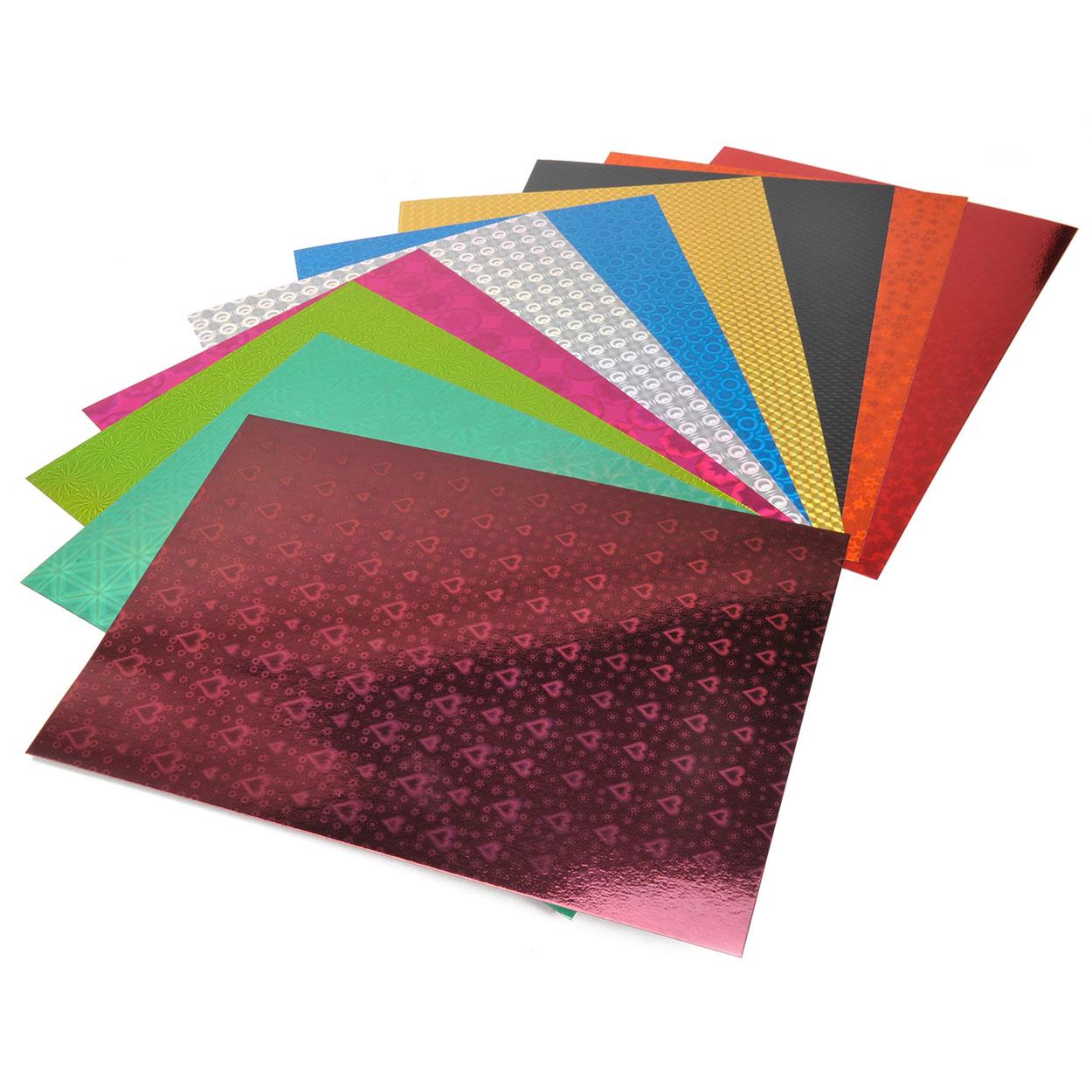 Holografisch karton a4 10 vellen for Gekleurd papier action