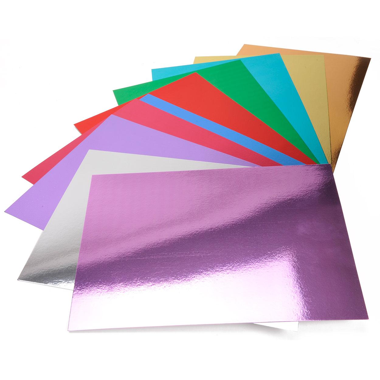 Spiegel karton a vellen with kartonnen action for Gekleurd papier action