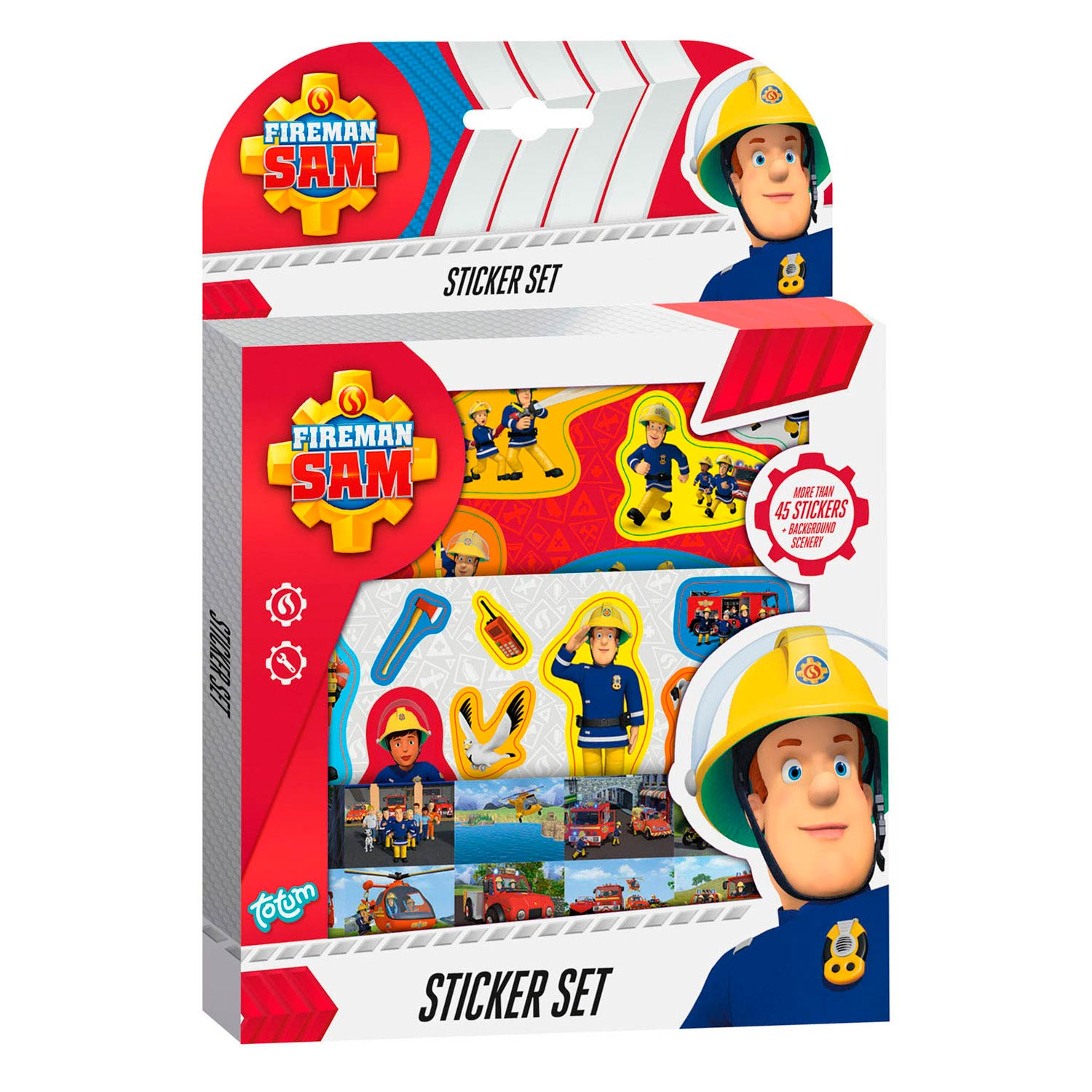 Totum Brandweerman Sam Stickerset
