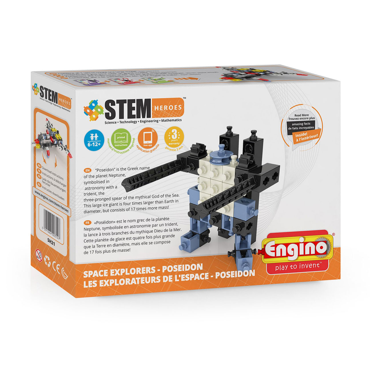 Engino STEM Heroes Space Explorers - Poseidon