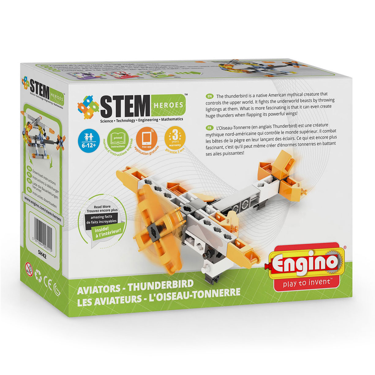 Engino STEM Heroes Aviators - Thunderbird