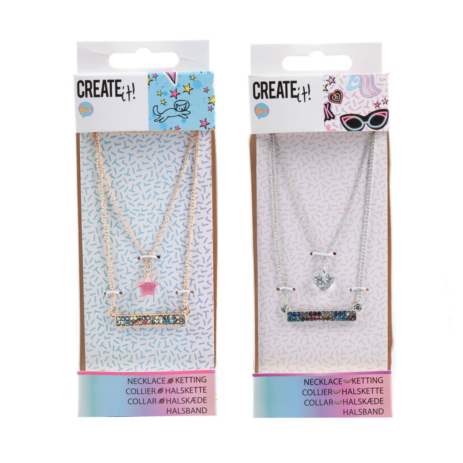 Create It! Ketting 3-Laags Diamant