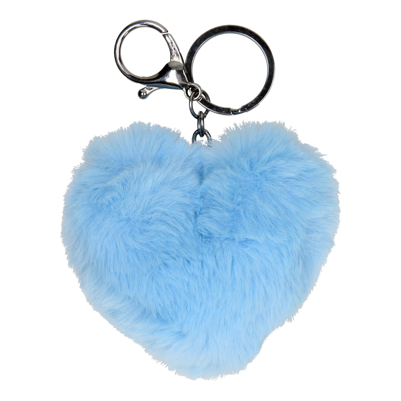 Sleutelhanger Fluffy Hart Blauw Online Kopen Lobbesnl