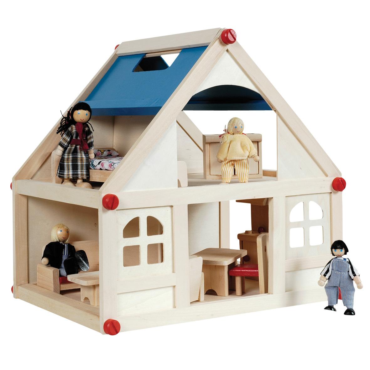Houten Poppenhuis, 13dlg  online kopen   Lobbes nl