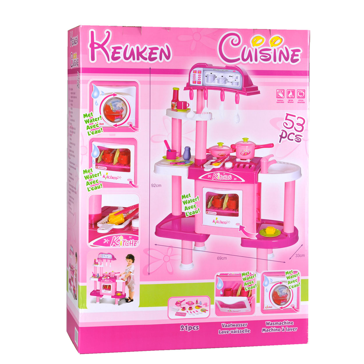 Keuken Accessoires Speelgoed : Keuken Roze Met Accessoires online kopen Lobbes.nl