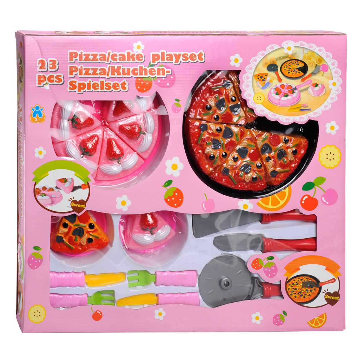 Disney Keukenaccessoires : Pizza en Taart Speelset, 23dlg online kopen Lobbes nl