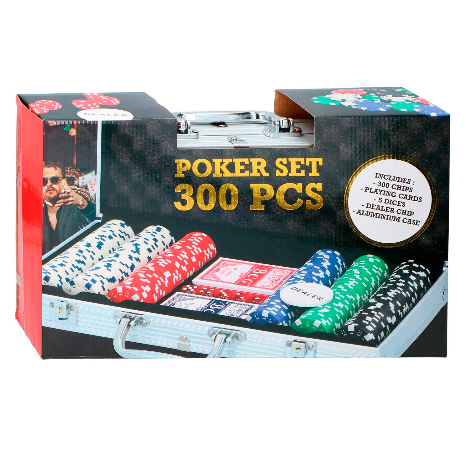 Pokerset in Koffer, 300dlg.