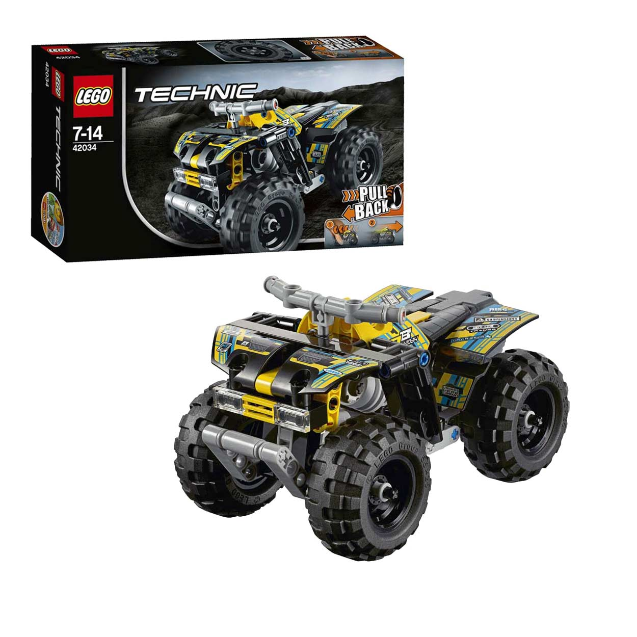 lego technic 42034 quad motor online kopen. Black Bedroom Furniture Sets. Home Design Ideas