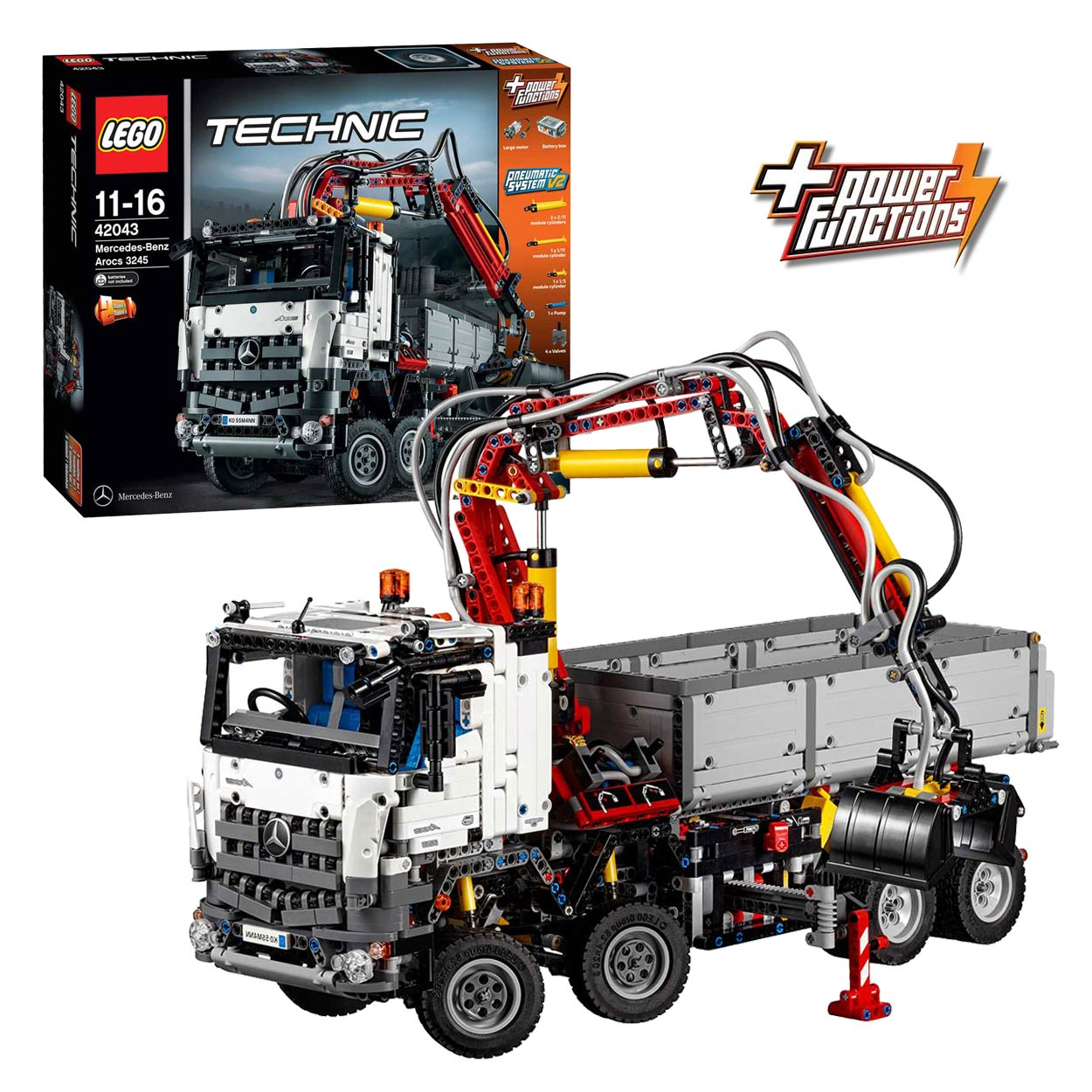 lego technic 42043 mercedes benz arocs 3245 online kopen. Black Bedroom Furniture Sets. Home Design Ideas