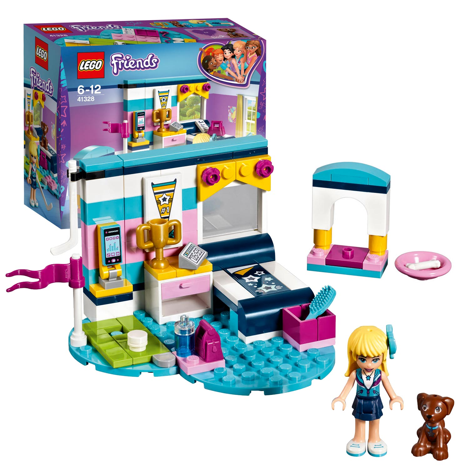 lego friends 41328 stephanies slaapkamer