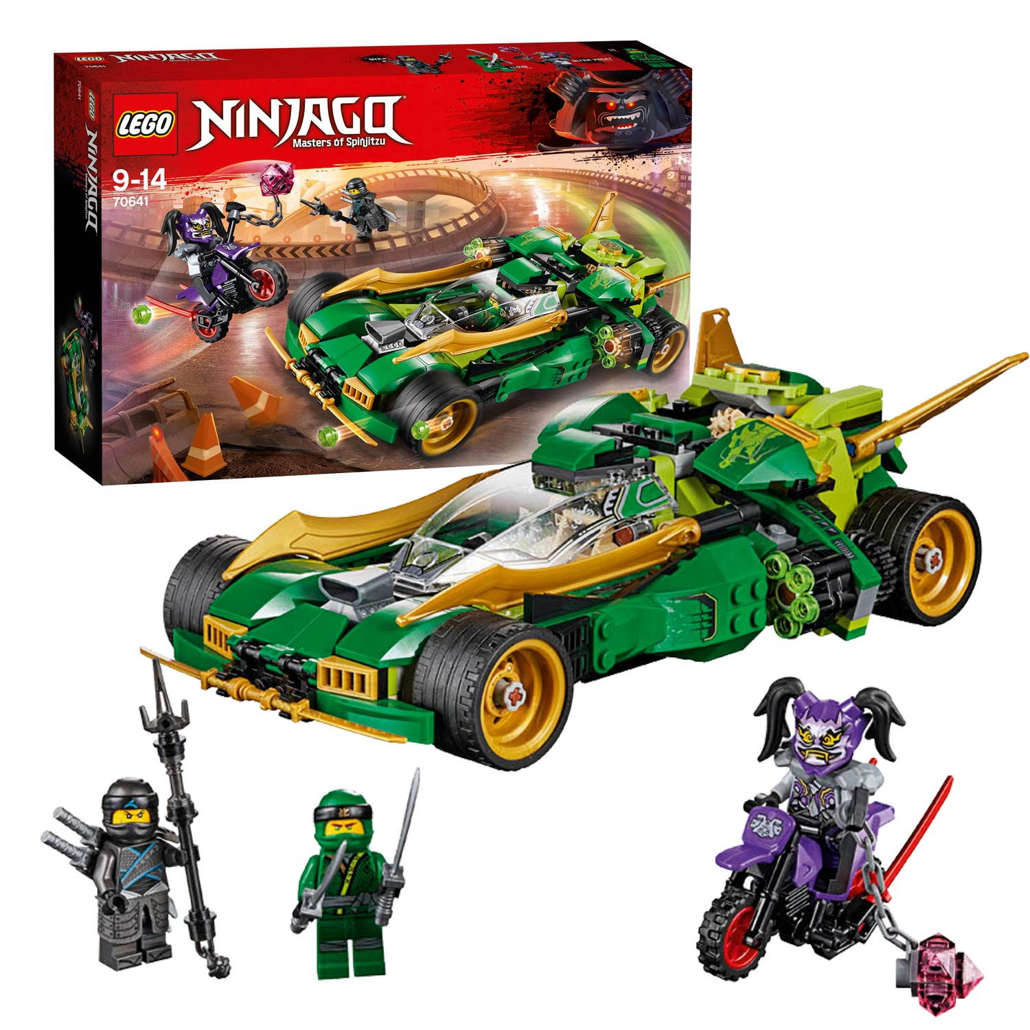 lego ninjago 70641 ninja nachtracer online kopen. Black Bedroom Furniture Sets. Home Design Ideas