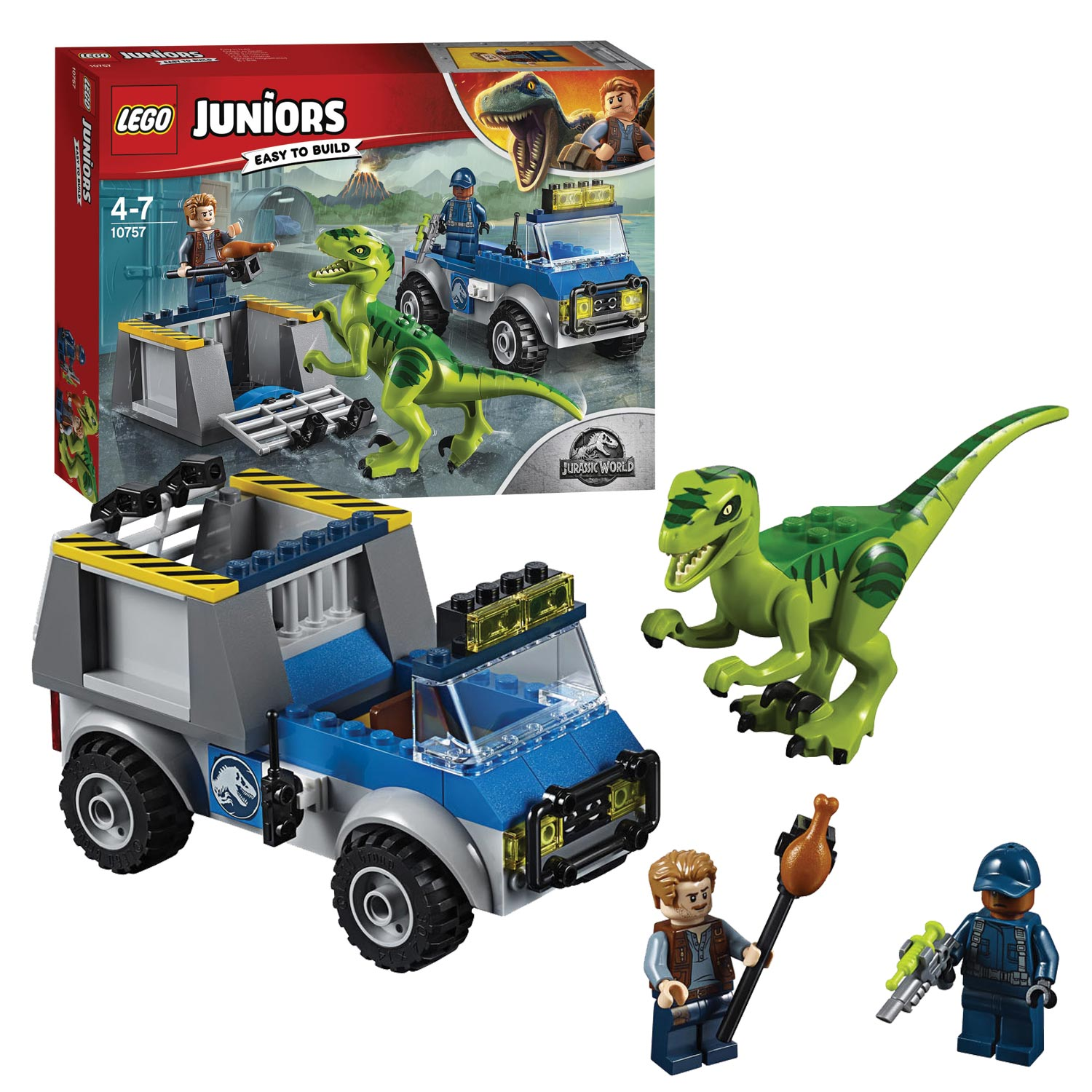 LEGO Juniors Jurassic World 10757 Raptor Reddingsauto