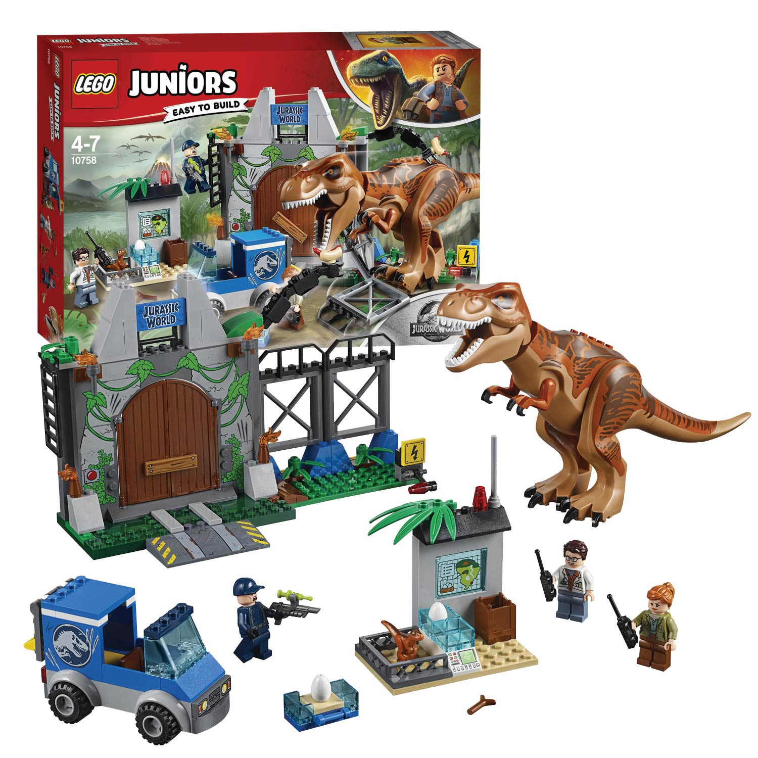 LEGO Juniors Jurassic World 10758 T-Rex ontsnapping