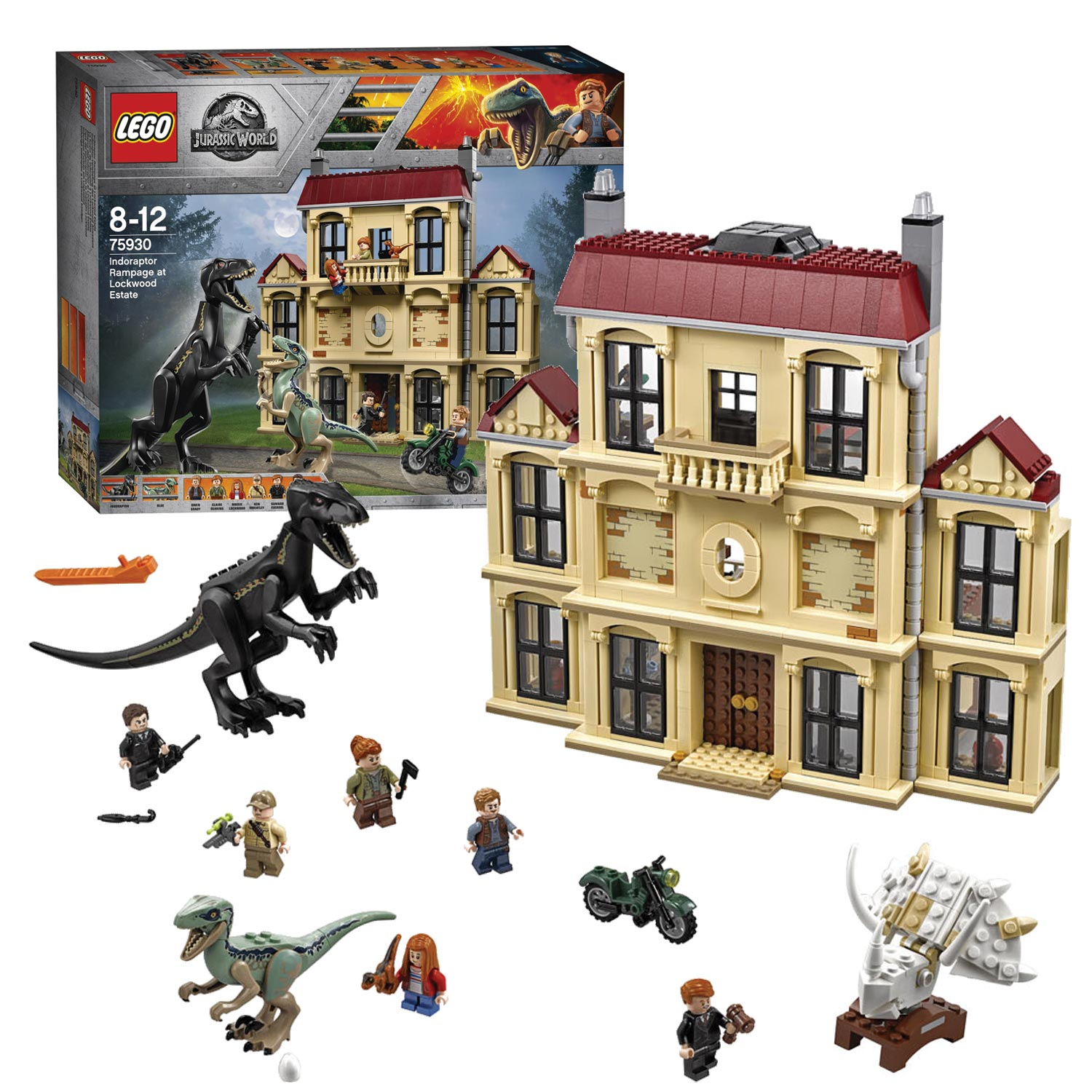 LEGO Jurassic World 75930 Indoraptorchaos bij Lockwood Estat