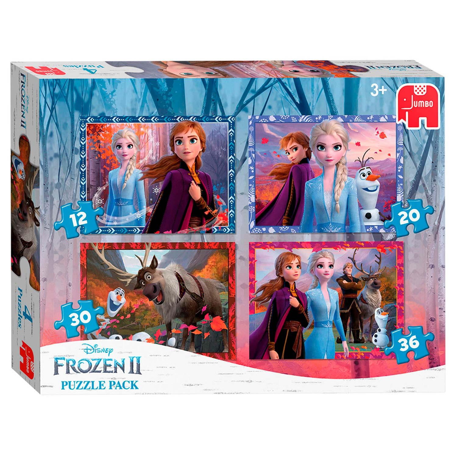 Disney Frozen 2 - Puzzel, 4in1