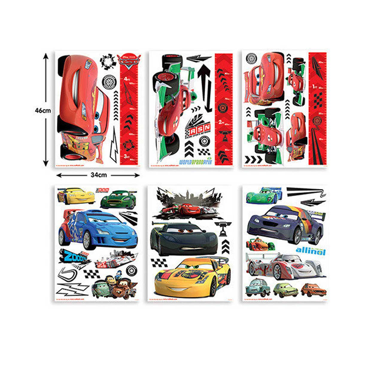 Cars Muurstickers Kinderkamer.Walltastic Muurstickers Cars