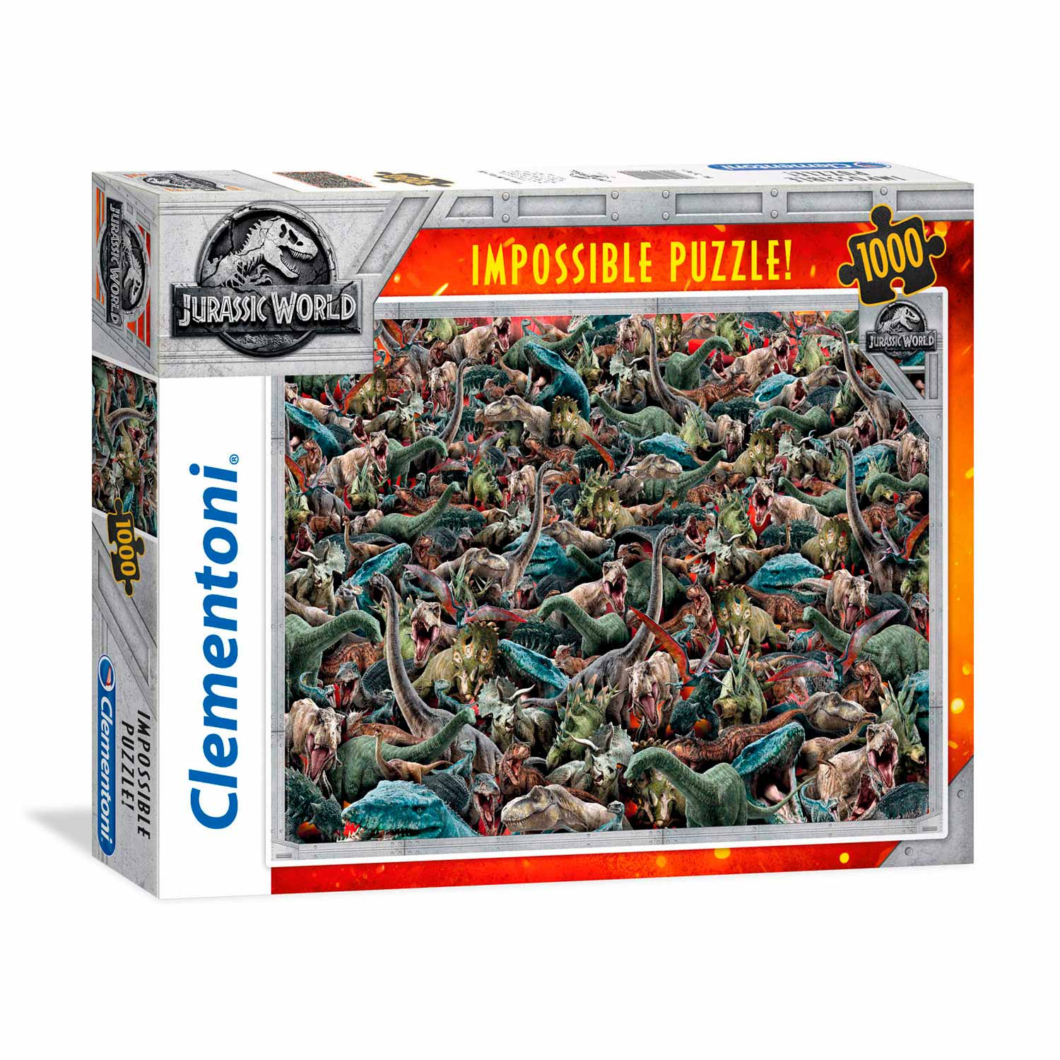 Clementoni Impossible Puzzel Jurassic World, 1000st.