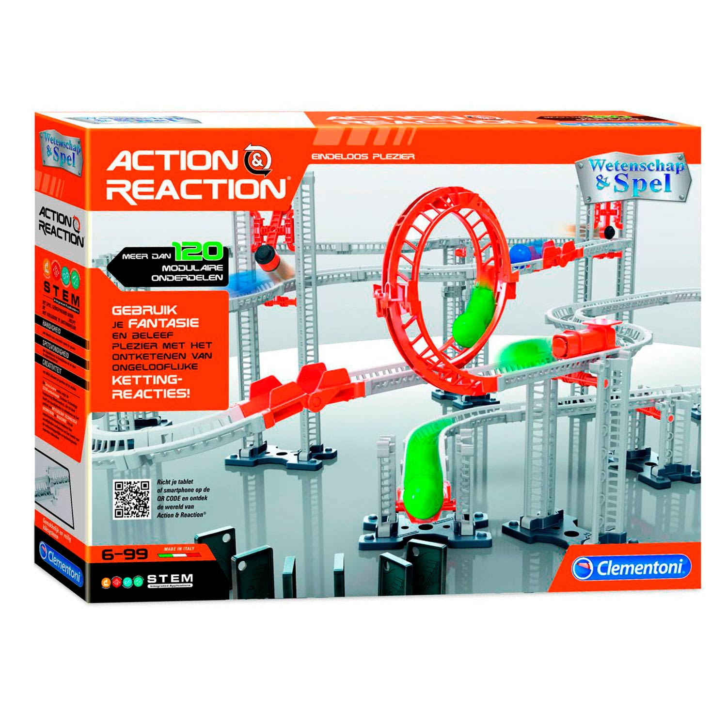 Clementoni Action & Reaction - Luxe Speelset, 120dlg.