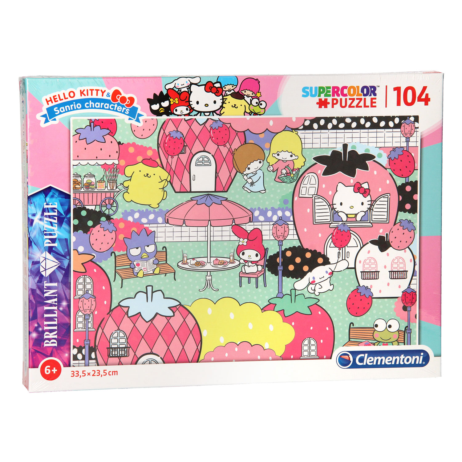 Clementoni Brilliant Puzzel Hello Kitty, 104st.