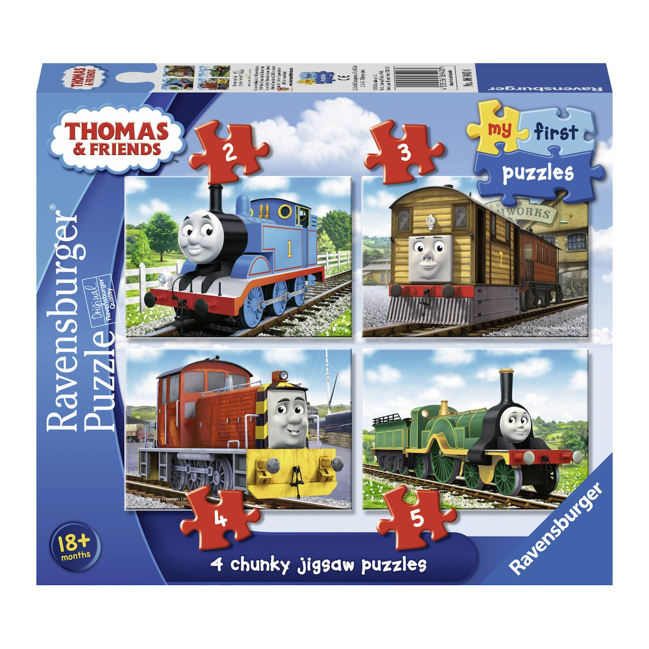 Thomas & Friends Puzzel, 4in1