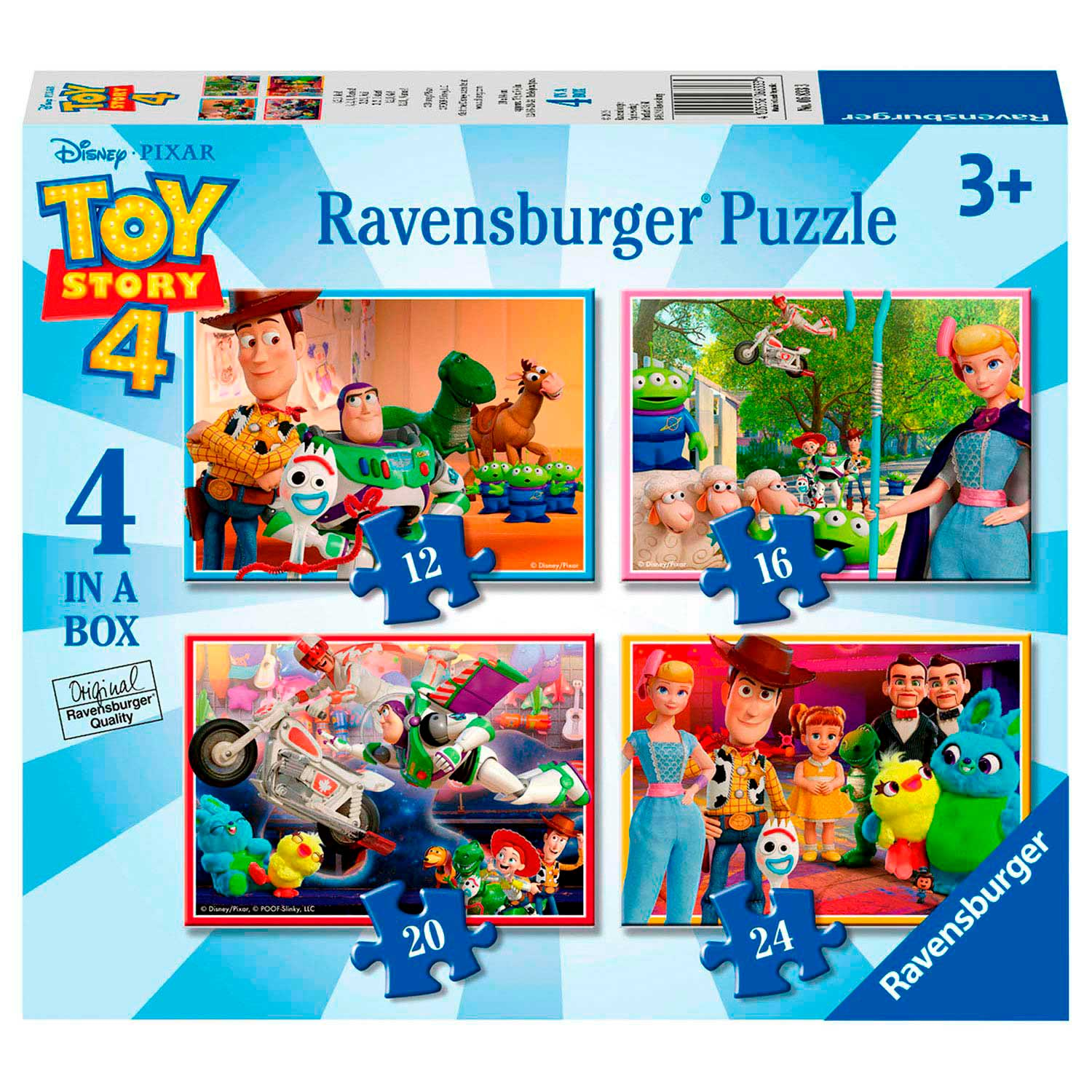 Toy Story Puzzel, 4in1