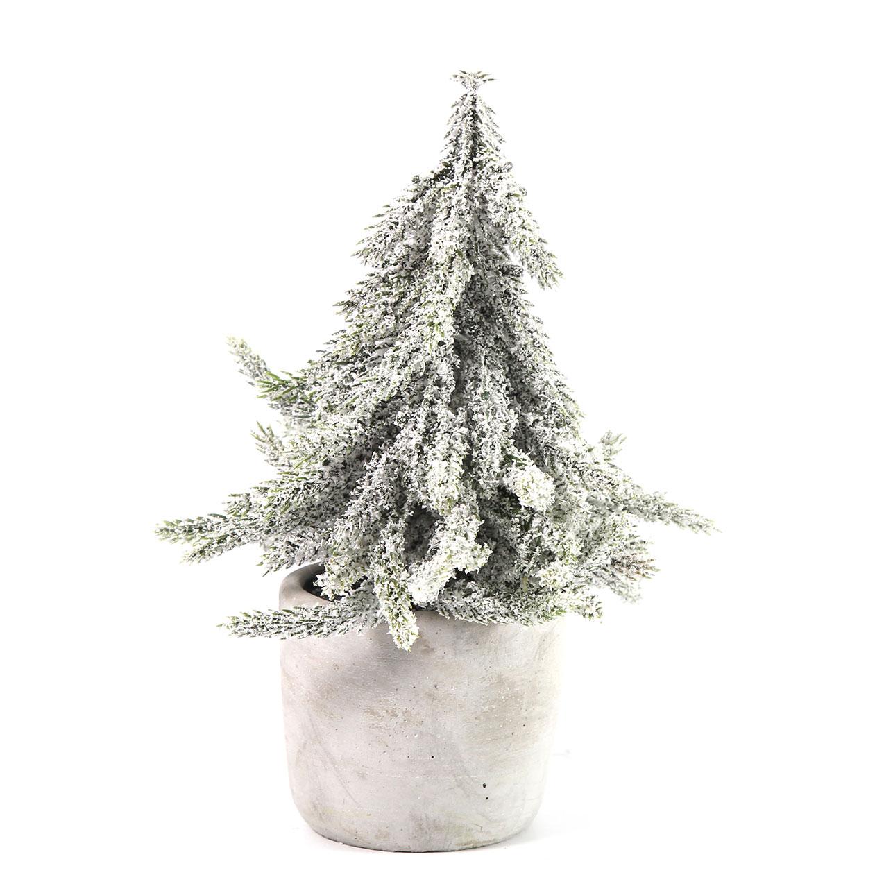 Kerstboom In Pot.Kerstboom In Pot Lucien Wit 20cm