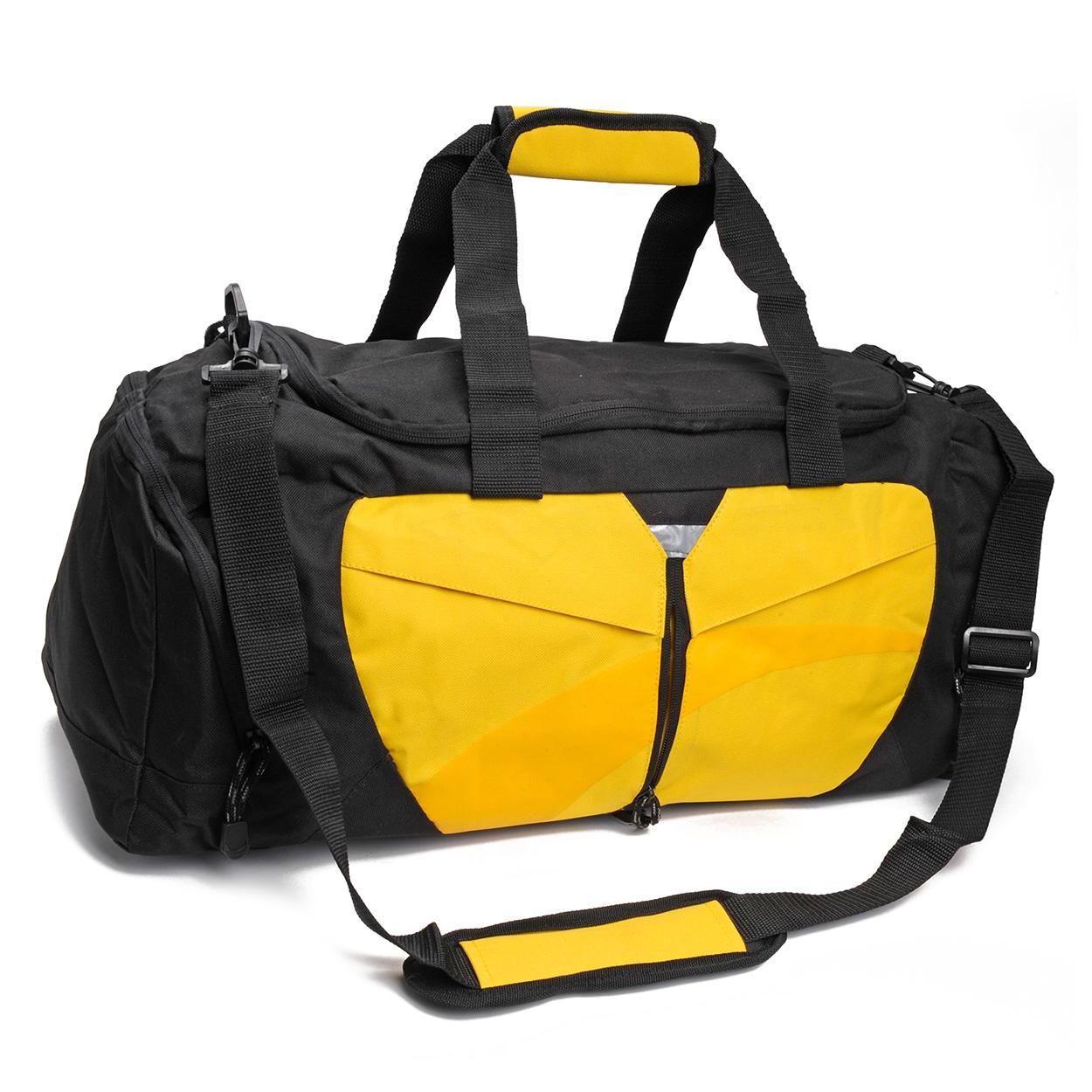 Tassen Ontwerp Wedstrijd : Weekendtas pegasus geel met zwart kopen lobbes
