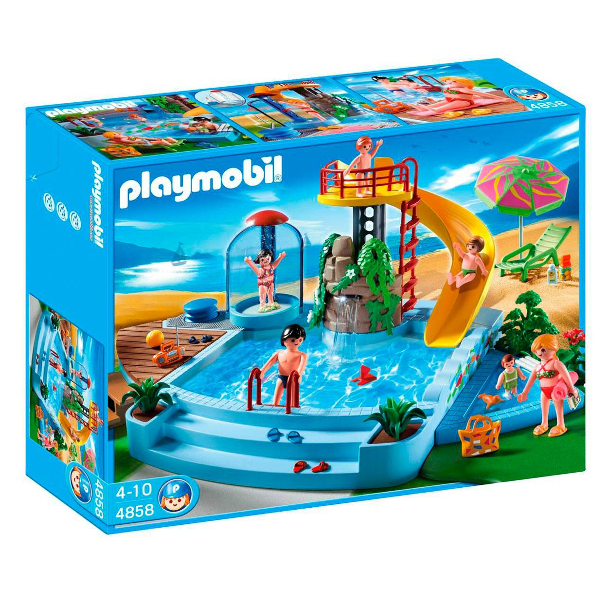 7d3d25a6871ced Playmobil 4858 Openluchtzwembad met Glijbaan online kopen | Lobbes ...