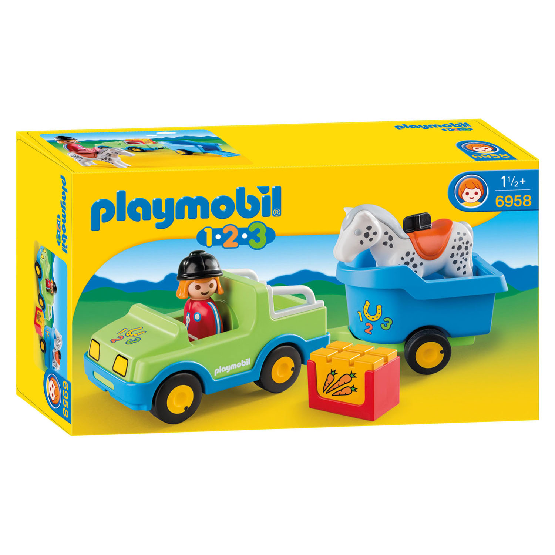 speciale sectie online winkel Los Angeles Playmobil 6958 Wagen met Paardentrailer